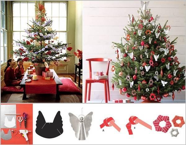 Trang Trí Cây Thông Noel Sáng Tạo Vơi Origami.